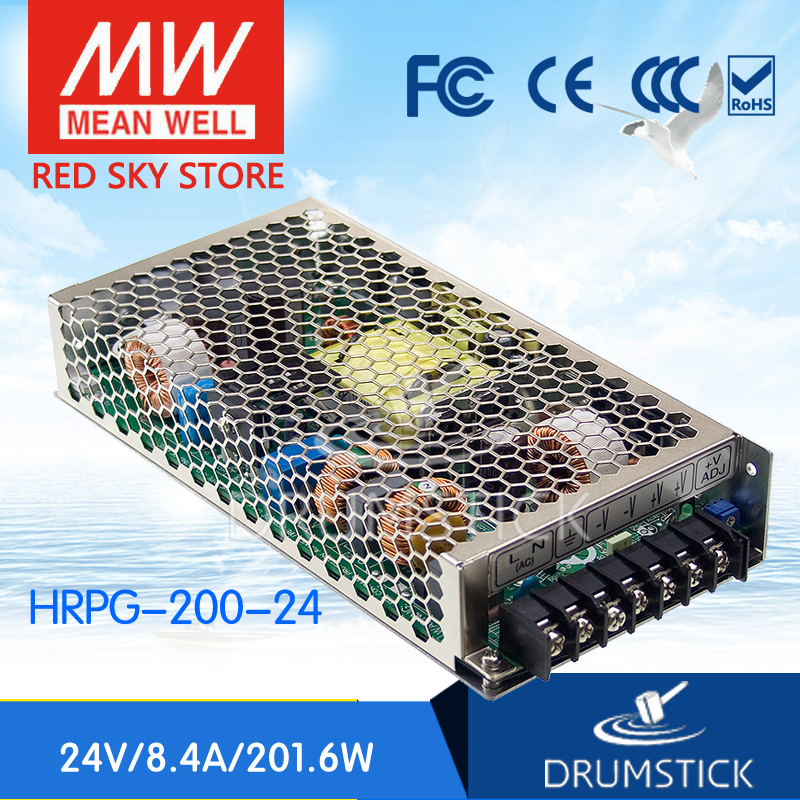 цена на Genuine MEAN WELL HRPG-200-24 24V 8.4A meanwell HRPG-200 24V 201.6W Single Output with PFC Function Power Supply
