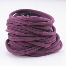 Super Soft Thin Pale Nylon Elastic Baby Headbands Skinny StretchHeadband Bulk stretchy HB388S