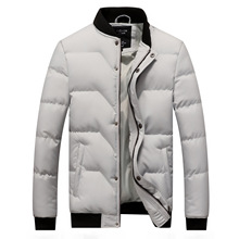 Winter Jacket Men 2018 Brand New Quilted Jackets Stand Collar Cotton Padded Thick Warm Coast for Man Outwear M-4XL