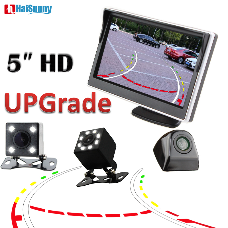 HaiSunny Car Parking Reversing Backup Camera Cam Dynamic Line Waterproof With Rearview Mirror Monitor 5.0 inchHaiSunny Car Parking Reversing Backup Camera Cam Dynamic Line Waterproof With Rearview Mirror Monitor 5.0 inch