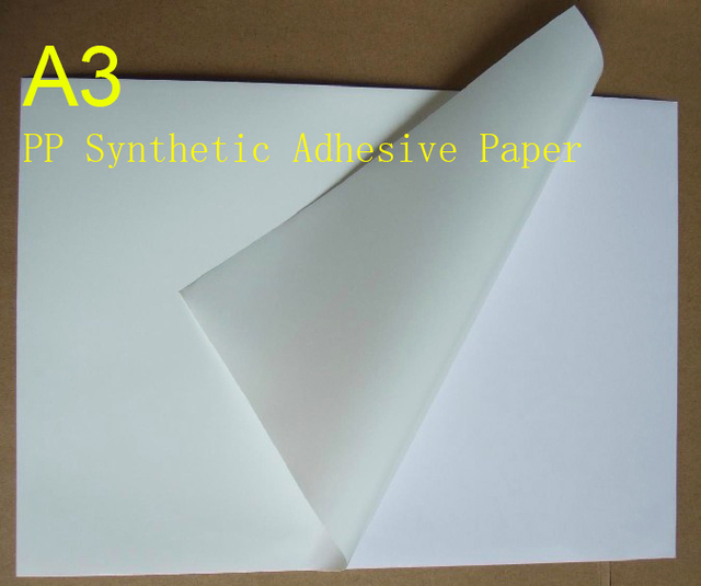 A3 pp synthetic paper adhesive sticker paper printing paper matte a3 pp synthetic paper adhesive sticker paper printing paper matte surface sheet fit laser printer 50sheets publicscrutiny Gallery