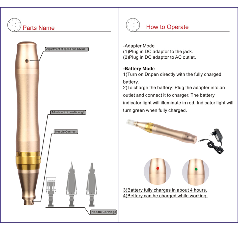 Image 3 - Rechargeable Derma Pen Dr. Pen M5 W  Auto Microneedle Pen Bayonet Prot Needle Cartridges Pen Wireless Electric Derma Stamp New-in Derma Roller from Beauty & Health