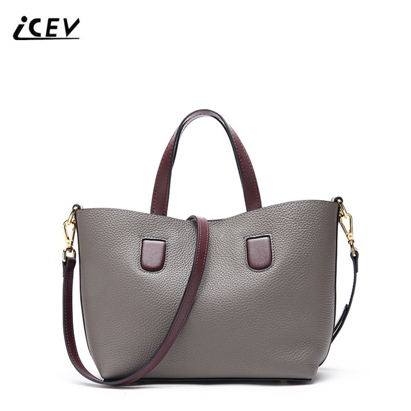 ICEV New European Fashion Designer Handbags High Quality Genuine Leather Handbags Simple Women Leather Handbags Office Totes SacICEV New European Fashion Designer Handbags High Quality Genuine Leather Handbags Simple Women Leather Handbags Office Totes Sac