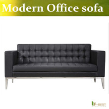 U-BEST Office Couches and Reception 3 seat sofa,Guest sofa for office  in leather or fabric,commercial sofa
