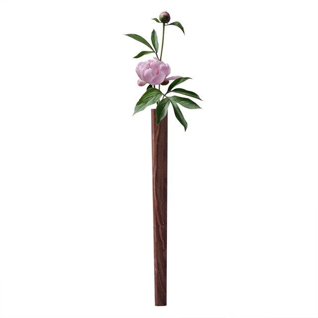 Nordic Handmade Solid Wood Wall Flower Vase 6