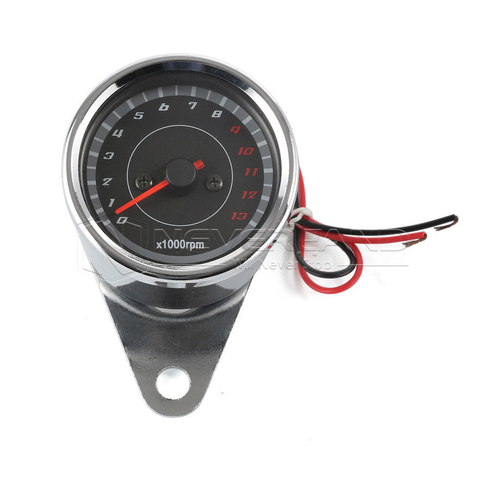 Neverland Universal Motorcycle Led Speedometer Tachometer Gauge Motor RPM for Harley Bikes/Bobber/Choppers/Custom D35 old school motorcycle gauges