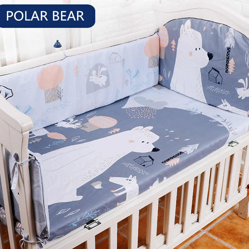 Comforter Bedding Sets For Baby 5 pcs/set Thickening Baby Bed Bumper Protector Baby Bedding Set Includes Bed Sheet Cotton Bumper