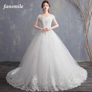 Image 3 - Fansmile New Robe de Mariage 2020 Cheap Wedding Dress China Vestidos de Novias Bridal Ball Wedding Gown FSM 626F