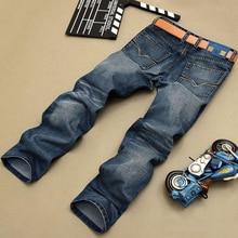 Fashion Biker Jeans Button Fly Pants Brand Designer Mens Jeans