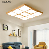 Nordic wooden led Ceiling Lights for bedroom living room ceiling mounted lamps with remote control Kitchen Lighting Fixtures