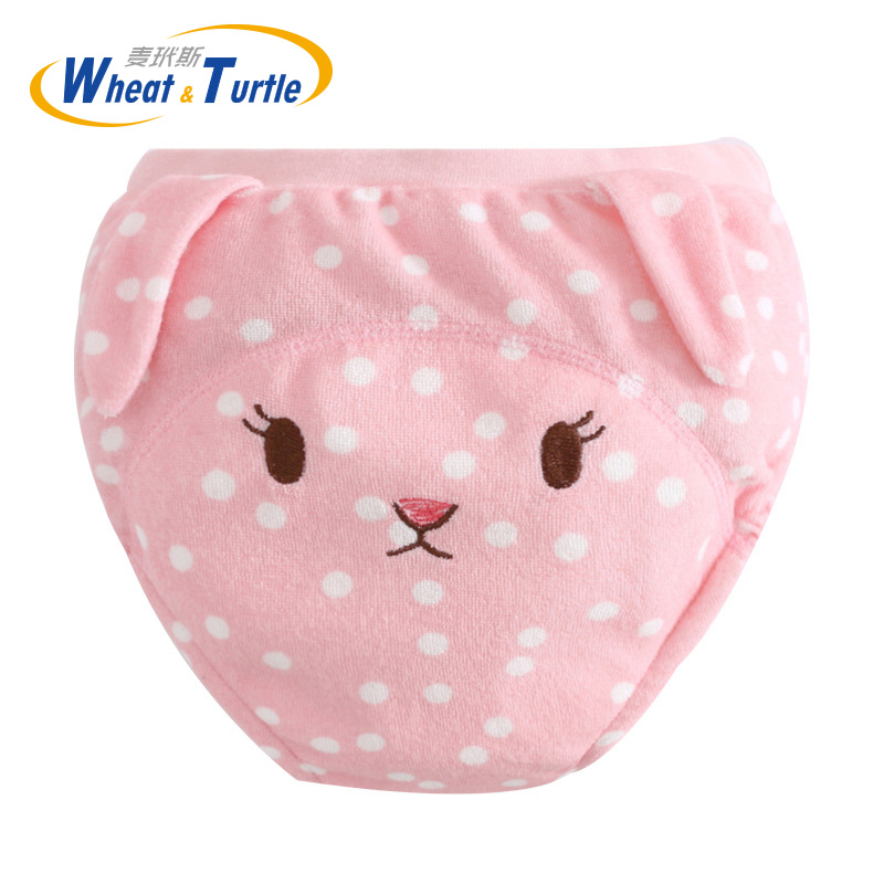 Mother Kids Baby Bare Cloth Diapers Animal Pattern Unisex Baby Training Panties Baby Diaper Reusable Nappy Washable Diapers
