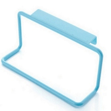 Kitchen Towel Hanging Rack Holder Waterproof PVC Free Nail Over Door Back Rack Bathroom Kitchen Cabinet Cupboard Hanger