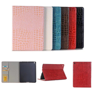 Luxury High Quality Crocodile Leather Case For Apple IPad 9 7 New 2017 A1822 Smart Case