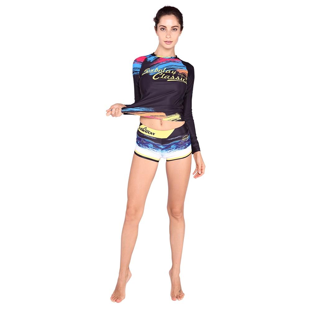 Surf Rashguard Plongée Combinaison Rash Guard Femmes Body À Manches Longues Maillot de Bain beachwear Surf Costume VY024