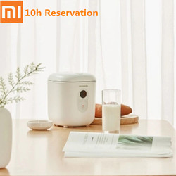 QCOOKER Mini Electric Rice Cooker NTC Heating 10 Hours Reservation LCD Rice Cooking Pot 1.2L 220V 300W From Youpin