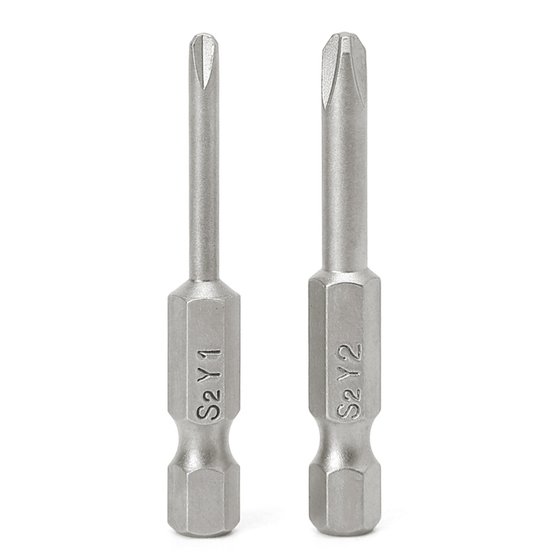 цена на 2Pcs/Set 50mm Magnetic 1/4'' Hex Shank Tri-wing Y Tip Head Screwdriver Bits