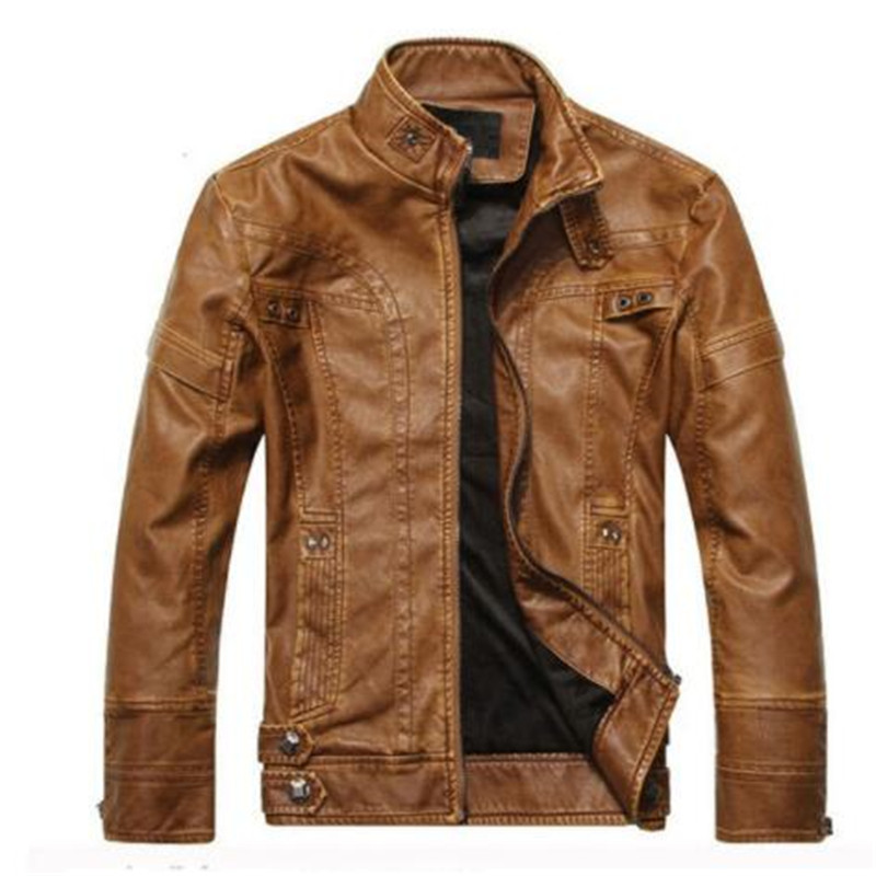 Men Genuine LeNew Arrive Brand Motorcycle Leather Jacket Men, Men's Leather Jacket Jaqueta De Couro Masculina,mens Leather Jacke(China)