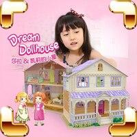 New Arrival Gift Dollhouse Series 3D Puzzles Building Construction DIY Cute Model Puzzle Game Children Kids