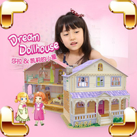 New Arrival Gift Dollhouse Series 3D Puzzles Building Construction DIY Cute Model Puzzle Game Children Kids