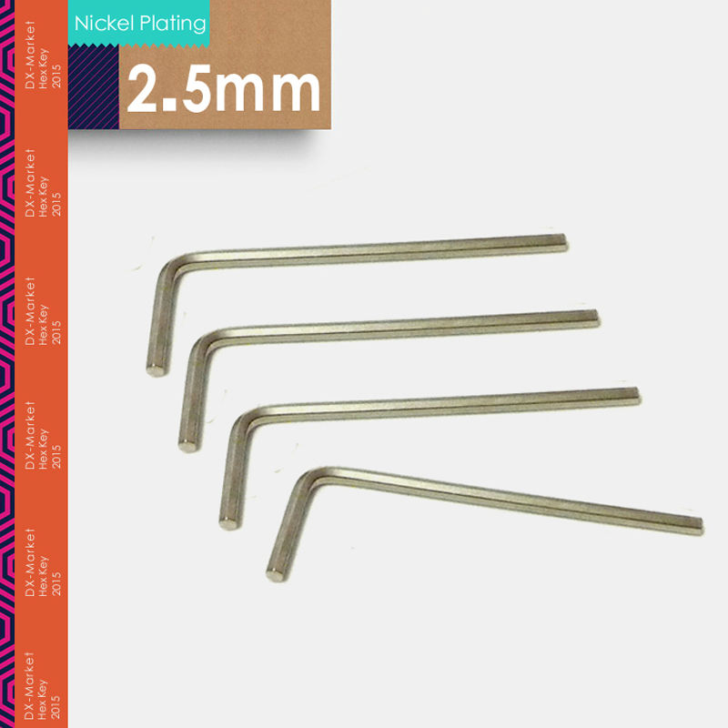 2.5mm , 50pcs/lot ,  DIN911 2.5mm Hex Key , Allen Key DIY Hand Tools  , M2.5 Nickel Plating Tool