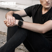 SKMEI Outdoor Sports Square Digital Watches Men Luxury Gold