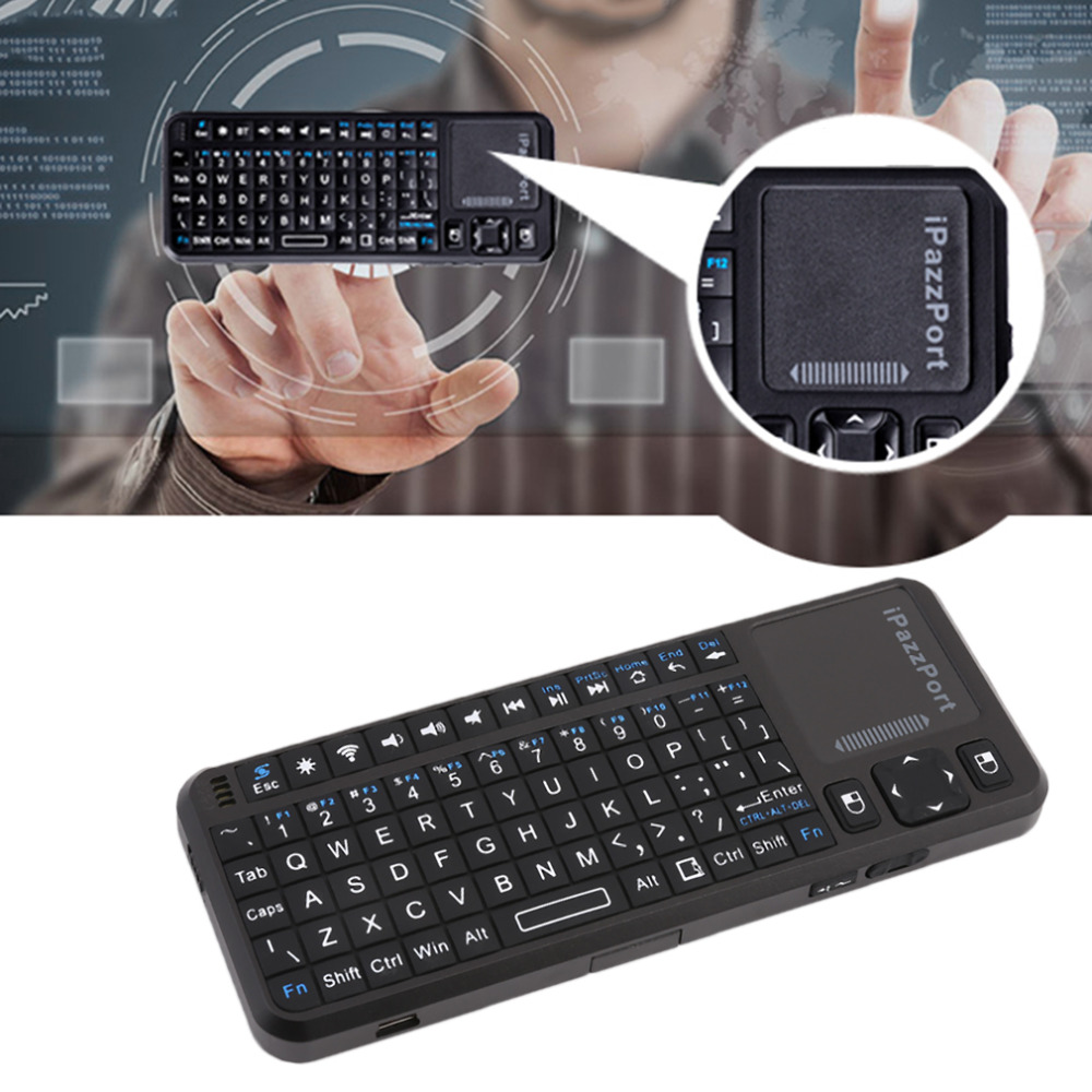iPazzPort KP-810-10AS Wireless Handheld Keyboard 2.4GHZ Portable Size Keyboard Support Multi-Language For Android Hot Sale