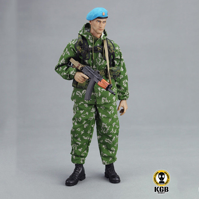 KGB-HOBBY KGB003 1/6 Russian VDV Scout Soldier Limited Clothing Weapon Models Equipment Set For 12 Inches Action Figures 1 6 scale russian vdv scout soldier limited clothing weapon models equipment set for 12 inches action figures