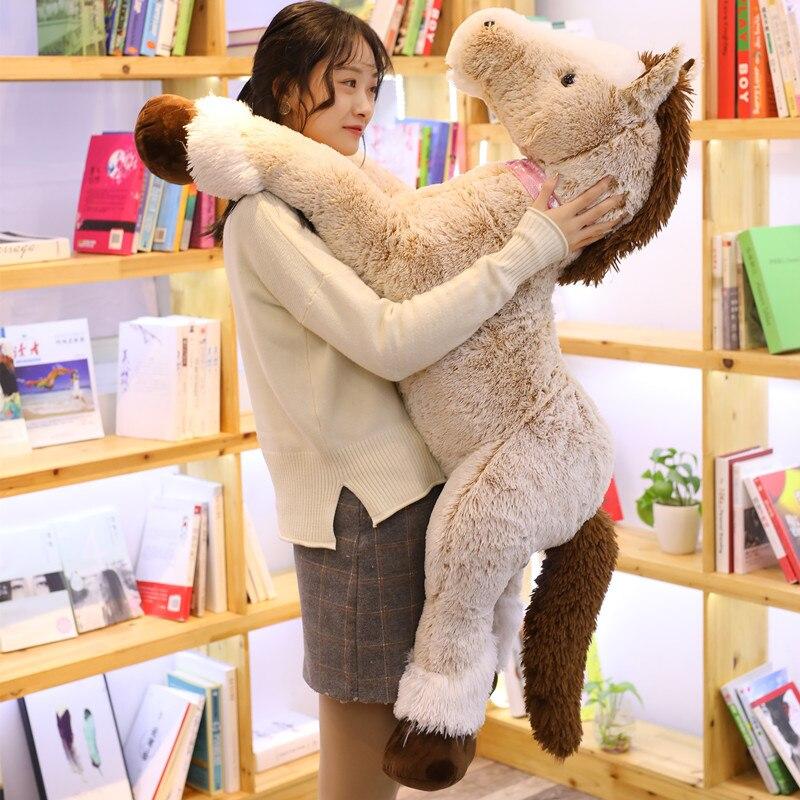 Hot Giant 90/120cm Kawaii Unicorn Plush Toy Crouching Horse Stuffed Animal Toys for Children Soft Doll Home Decor Lover Gift