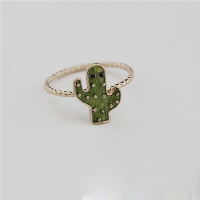 Colorful Cactus Ring