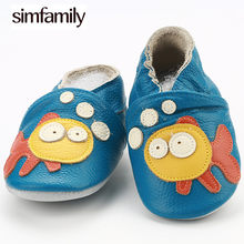[simfamily]2017 Fashion New Autumn Winter Baby Shoes Girls Boy First Walkers Newborn Shoes Shoes Genuine Leather First Walkers(China)