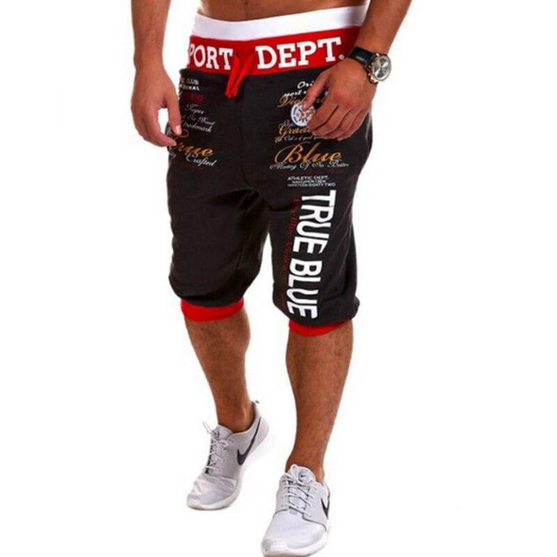 Shorts Mens Bermuda 2018 Summer Men Letter Hip-Hop Print Beach Hot Cargo Men Boardshorts Male Brand MenS Short Casual Fitness
