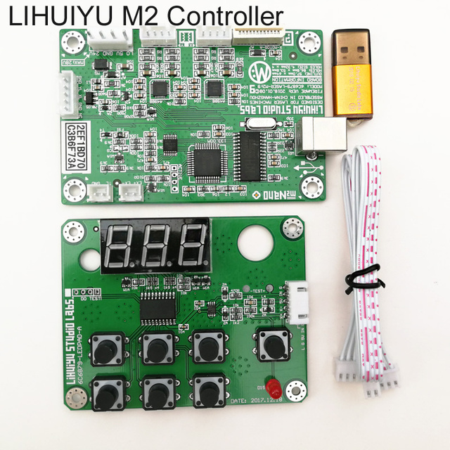 LIHUIYU M2 Nano Laser Controller Mother Main Board Mother Board Control Panel Dongle B USB Cable Used for Co2 Engraving Machine