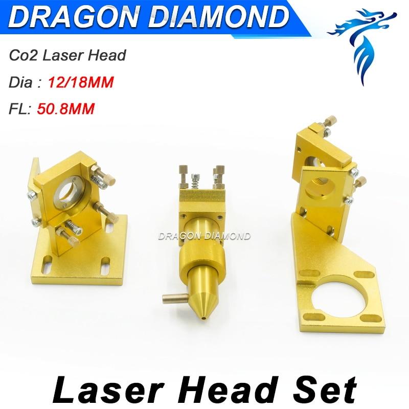 CO2 Laser Mini Laser Head Set For 2030 4060 K40 Laser Engraving Cutting Machine high quality 110 220v cnc wood working 60w 400 600mm co2 laser engraving cutting machine 4060 laser with usb sport