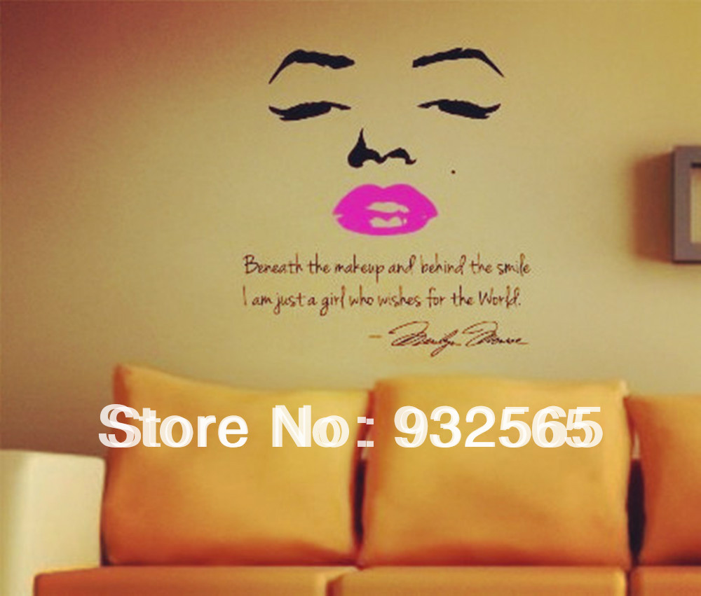 Exelent Marilyn Monroe Wall Decal Decor Quote Ideas - Wall Art ...