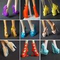 Бесплатная доставка 5 пар/лот новинка обувь для монстра высокой кукла обувь ( корабль на случайные стили )