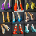 Free shipping 5 pairs / lot New Fashion shoes for Monster High Doll Shoes(ship at random styles)