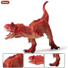 Oenux Simulation Jurassic Red Color Carnotaur Tyrannosaurus Mouth Can Open Dinosaur Figurines Brinquedo Action Figures Kids Toy