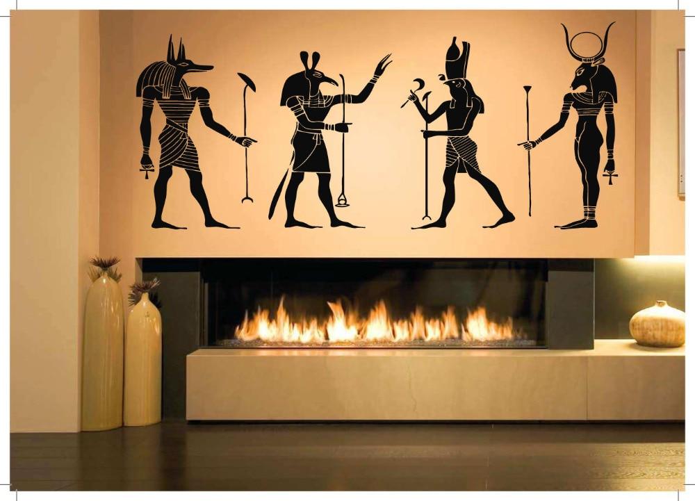 ⊱Wall Room Decor Art Vinyl Sticker Mural Decal Egyptian Gods Big ...