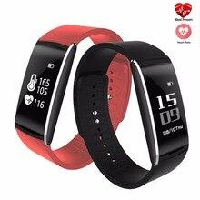 K8 K8 Smart Wristband Blood Pressure Heart Rate Monitor Fitness Tracker Sleep Monitor Sport Smartband Bracelet PK S2 i6 Pro Gift
