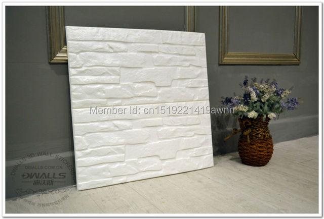 10 pcs 60*60 cm Nouveau PE Mousse 3D Flexiable Brique 3d mur ...