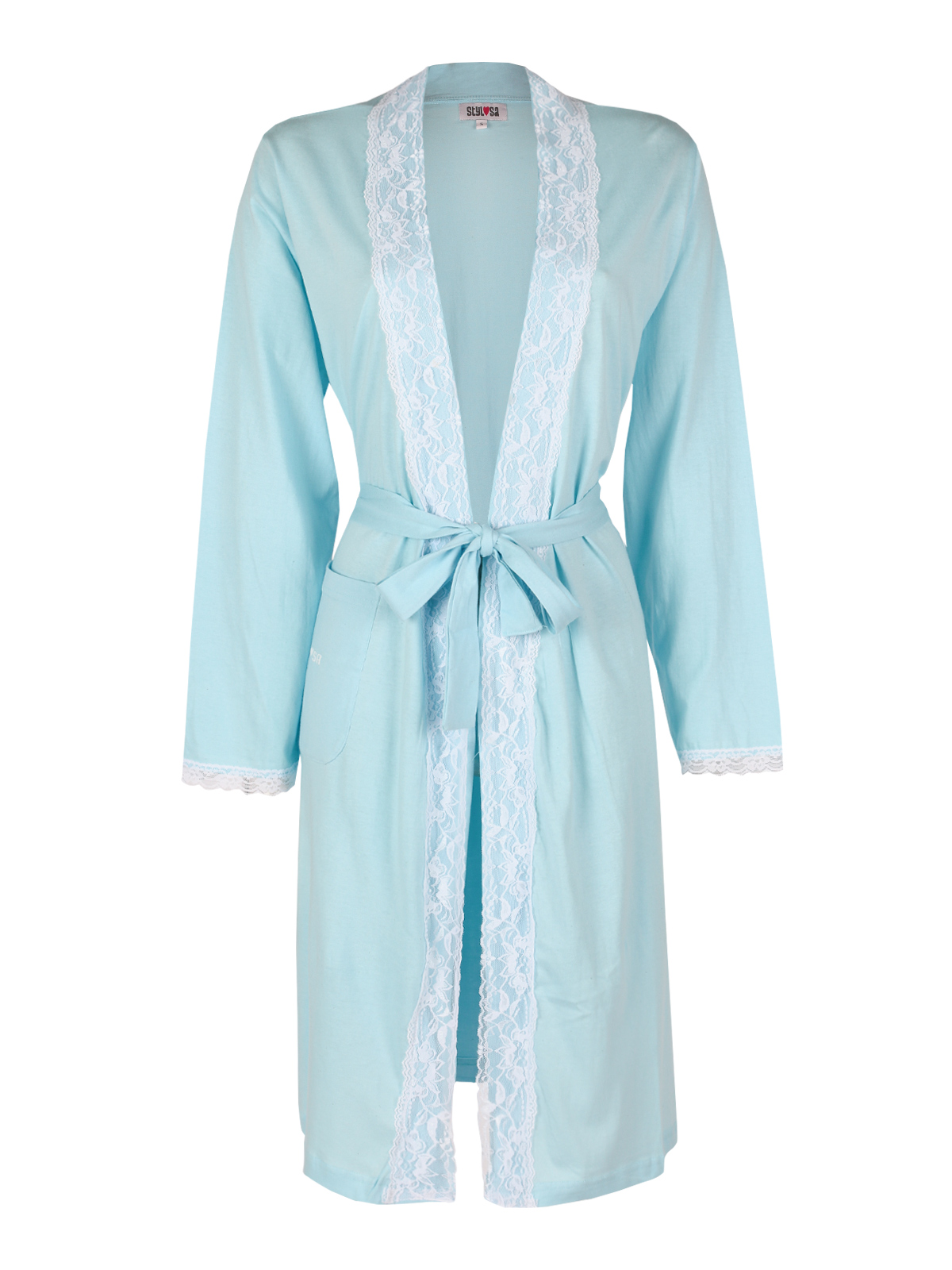 Robe With Lace-sky Blue Aquamarine