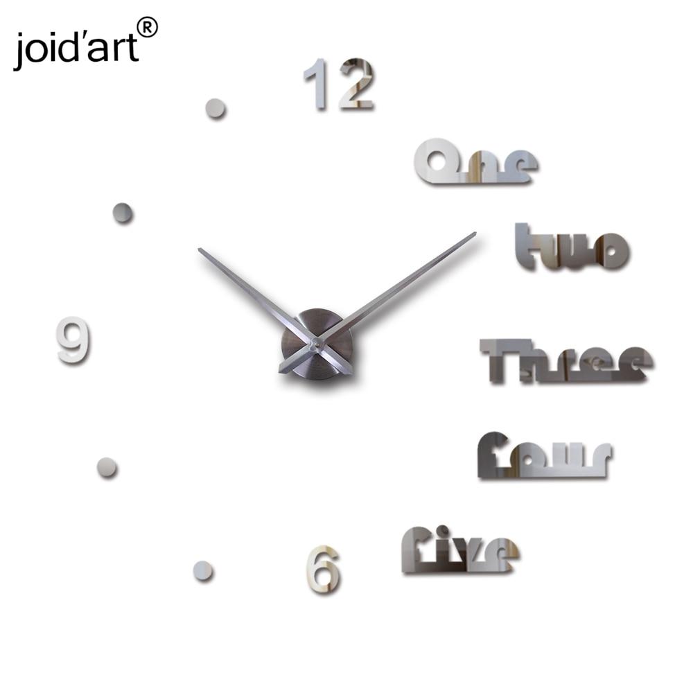 Új kvarc falióra akril tükör diy órák Reloj De Pared Horloge - Lakberendezés