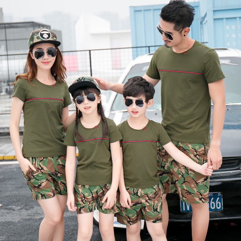 Family Matching Clothing Fashion Look Striped Summer T-shirt Outfits Mother And Daughter ...