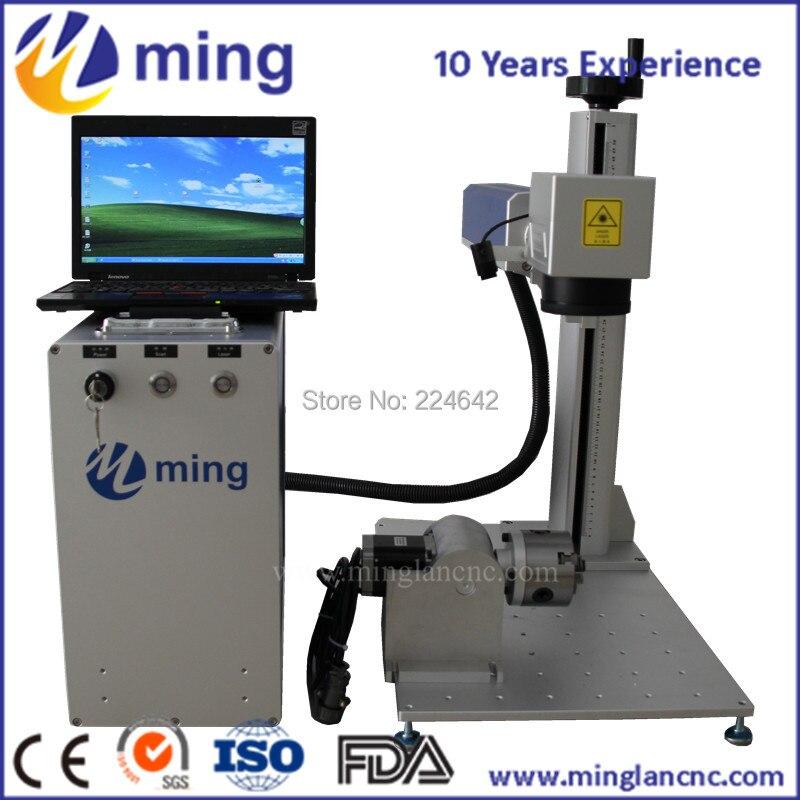 MINGLAN 10 W 20 w 30 w 50 w Raycus Laser source Laser à Fiber Machine de Marquage Pour Le Métal avec CE FDA