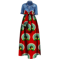 African Skirt Wax Cotton Batik Ankara Skirts for Women Casual African Clothes for Women Floor Length Lady Plus Size Long Skirts