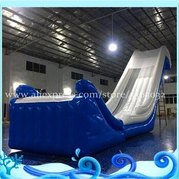 надувные водные горки для продажи | Мега надувная водная горка в море, надувная плавающая горка, гигантская надувная водная горка для яхты на продажу