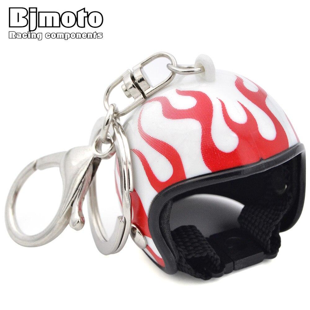Мини мотокросс шлем брелок небольшой Тинтин шляпа пламя мотоциклетные Кепки Шлемы брелки для девочек Для женщин Детский подарок