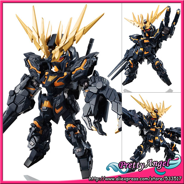 Original Bandai Tamashii Nations NXEDGE STYLE Mobile Suit Gundam Unicorn Action Figure - Banshee (Destroy Mode) genuine bandai bb sd q version of the 392 neo zeong unicorn gundam 3 5 inch assembled with high quality