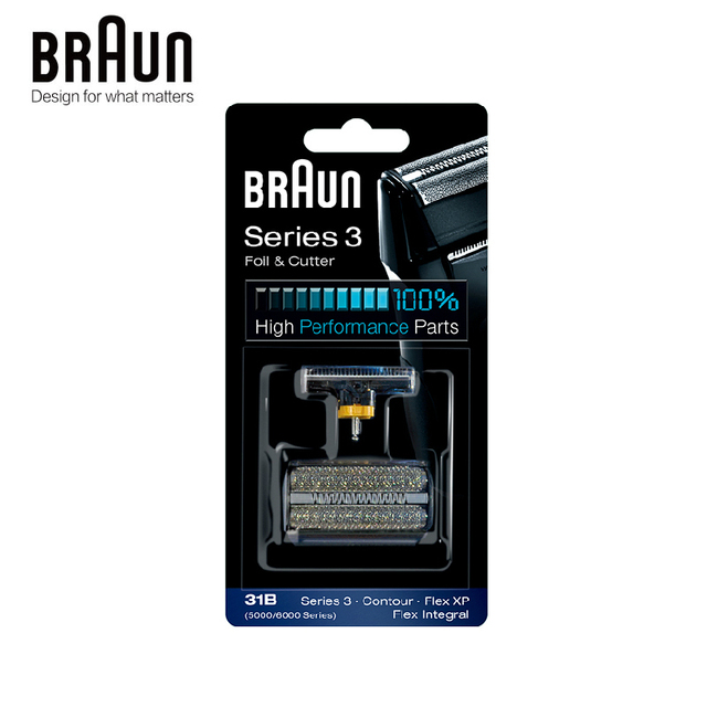 Braun 31B Foil & Cutter สูง Perfoormace สำหรับ Series 3 Contour Flex XP Flex Integral (5000 6000 Series)