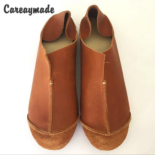 d37c6b89 Careaymade-prawdziwa skóra czysta ręcznie robione buty, retro sztuki mori  dziewczyna buty, damskie buty w stylu casual mieszkania buty, dwa sposób  noszenia